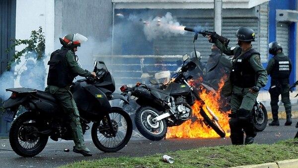 El régimen de Nicolás Maduro reprimió a la población civil en las protestas antigubernamentales