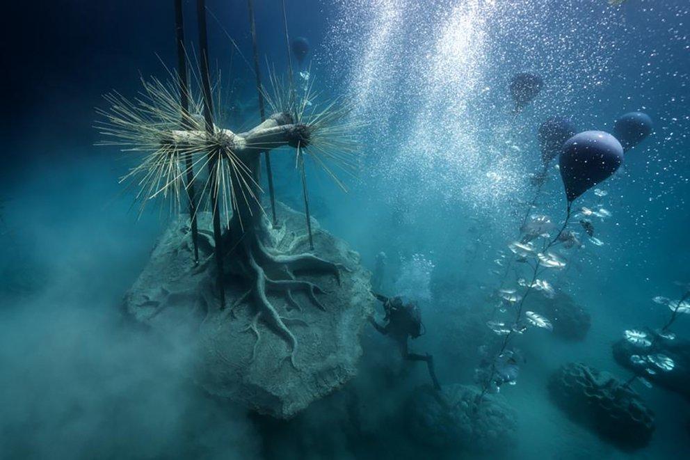 El sitio del museo se encuentra en un área marina protegida en Pernera, en la costa sureste de Chipre