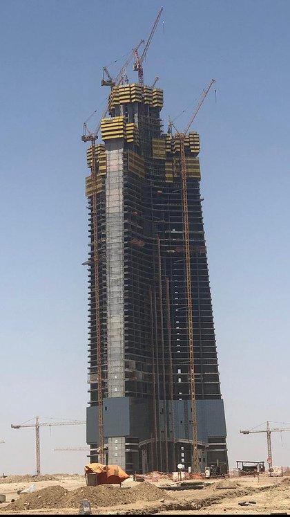 La construcción de la Torre Yeda hoy (noviembre de 2019)