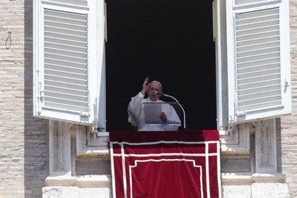 Papa Francisco durante el Angelus de este domingo (Evandro Inetti/ZUMA Wire/dpa)