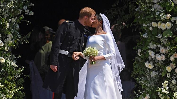 Harry y Meghan, el día de su boda (EFE)