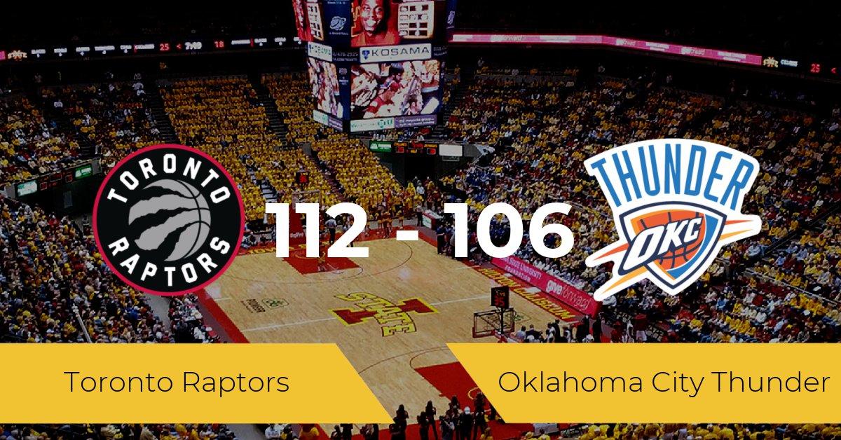 Toronto Raptors derrota a Oklahoma City Thunder (112-106)