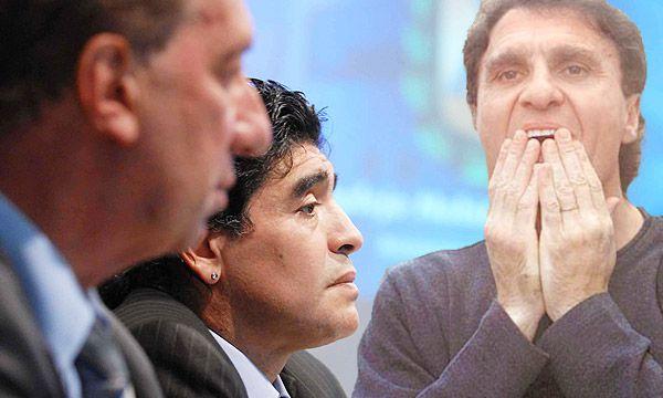 Diego Maradona , Carlos Bilardo y Oscar Ruggeri