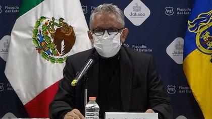 El fiscal de Jalisco dio la noticia (Foto: Twitter / captura de pantalla  Twitter / @FiscaliaJal)