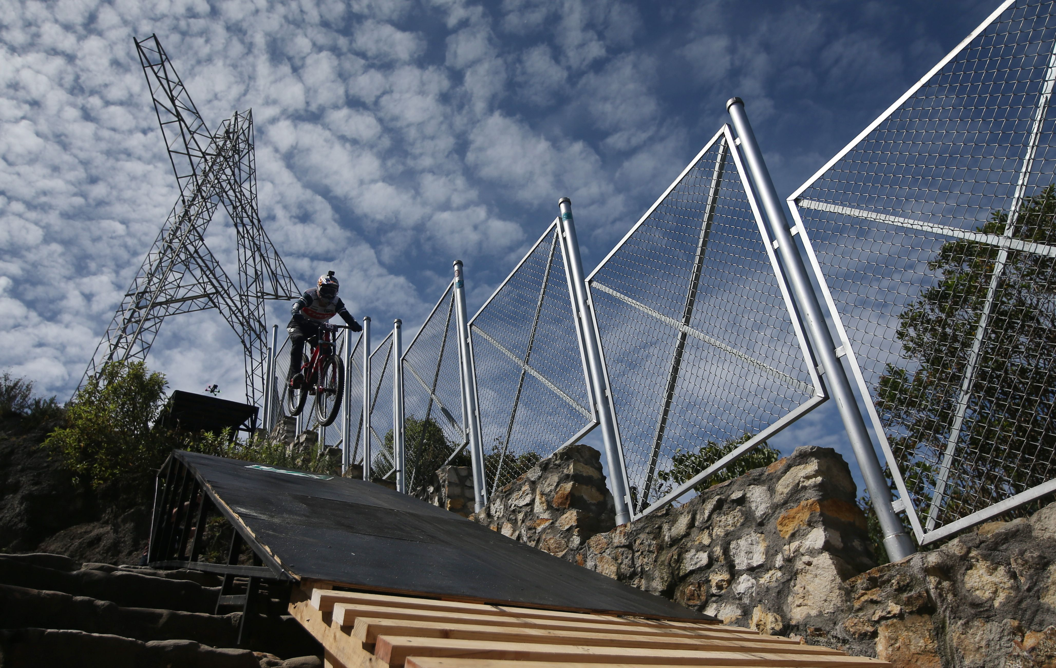 Cycling - Red Bull Monserrate Cerro Abajo - Bogota, Colombia - February 6, 2021 Chile's Pedro Burns in action REUTERS/Luisa Gonzalez