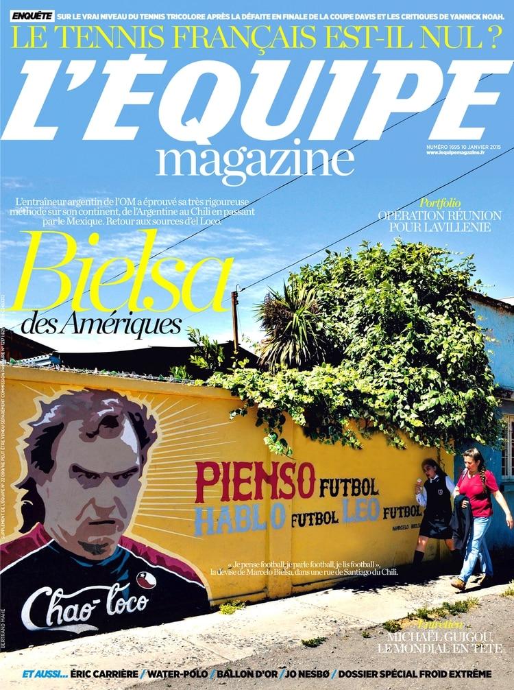 Su mural de Bielsa fue portada de L'Équipe