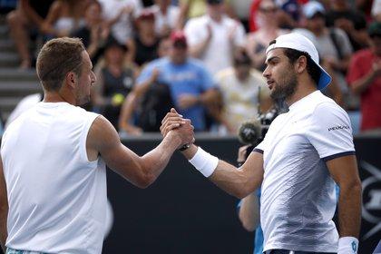 Tennys Sandgren y Matteo Berrettini serán dos de los protagonistas del regreso del tenis (Foto: Reuteres)
