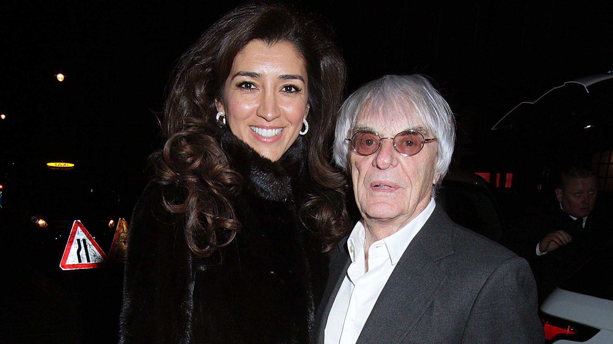Fabiana Flosi y Bernie Ecclestone (Shutterstock)