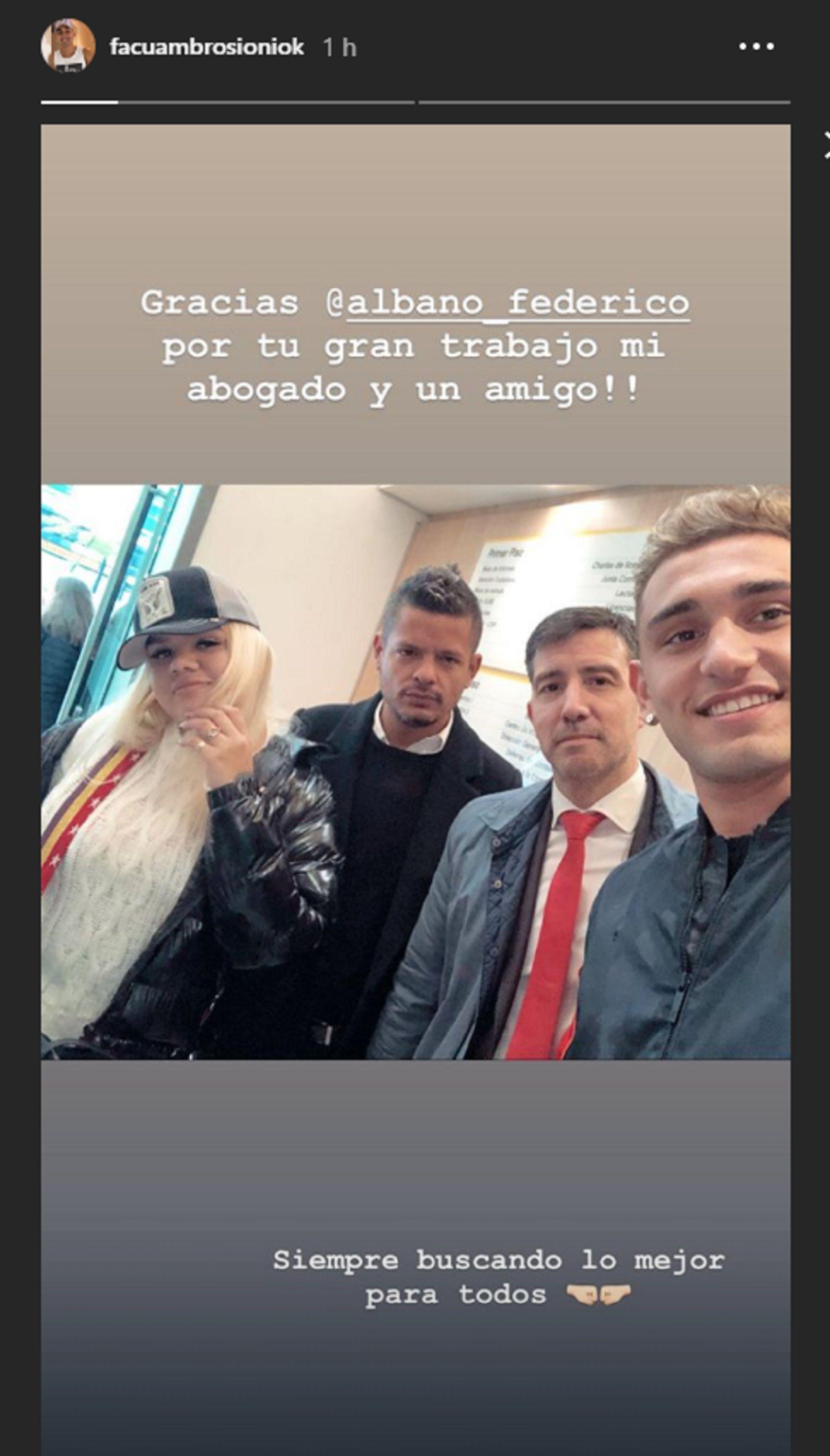 El mensaje de Facundo Ambrosioni tras firmar el acuerdo con Morena Rial