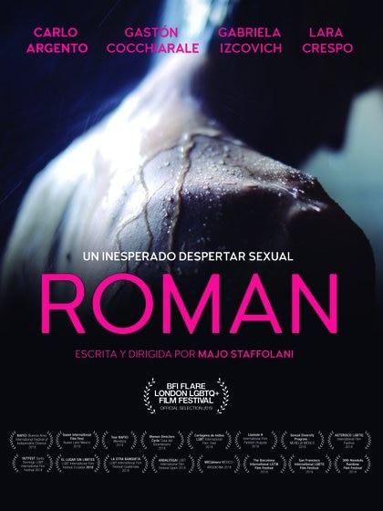 El afiche de Román, con parte de los festivales donde se presentó
