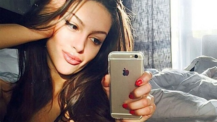 Oksana Voevodina, antes de abandonar sus cuentas en las redes sociales