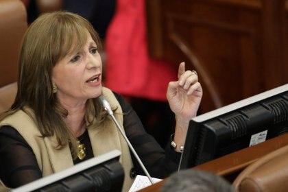 La senado anuncia su renuncia del movimiento de la Colombia humana a través de una carta dirigida Gustavo Petro. REUTERS/Luisa Gonzalez
