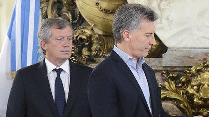 Emilio Monzó y Mauricio Macri (NA)