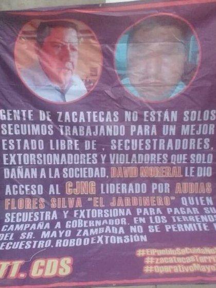La narcomanta fue firmada, presuntamente, por el Cártel de Sinaloa (Foto: Twitter @GerryE_Vargas)