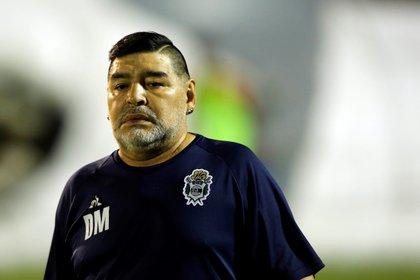 Diego en su última época como DT de Gimnasia y Esgrima de La Plata. EFE/Demian Alday