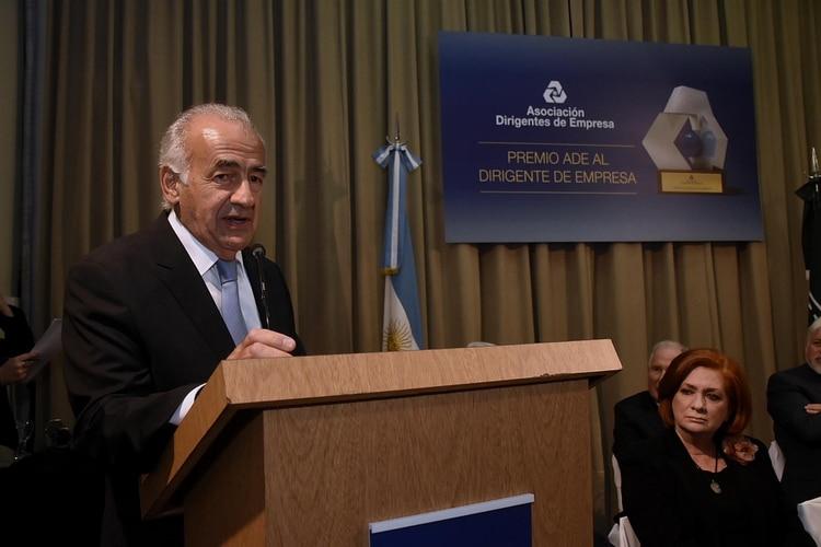 Antonio Assefh elogió el mérito de los galardonados y expresó su preocupación por el momento coyuntural difícil del país (Nicolás Stulberg)