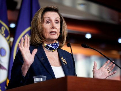 Speaker of the House Nancy Pelosi (D-CA) speaks during a briefing to the media on Capitol Hill in Washington, U.S., September 10, 2020.      REUTERS/Joshua Roberts