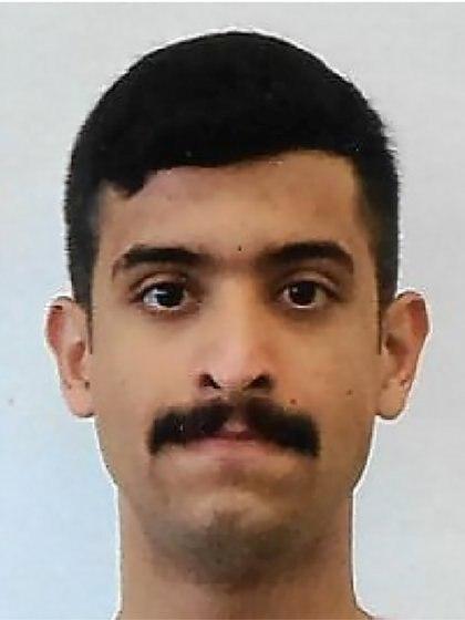 El teniente segundo de la Fuerza Aérea Real de Arabia Saudita, Mohammed Saeed Alshamrani, aviador acusado de matar a tres personas en una base de la Marina de los EE. UU. En Pensacola, Florida (FBI via REUTERS)