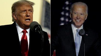 Donald Trump, presidente de los EEUU, y Joe Biden, electo para sucederlo a partir de enero de 2021