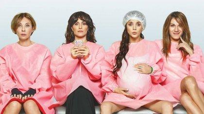 Inés Estévez, Julieta Díaz, Natalie Pérez y Mariana Genesio Peña, las cuatro mamás de Victoria (Foto: Telefe)