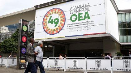 La 49na asamblea general de la Organización de Estados Americanos se realizará hasta el viernes en la ciudad colombiana de Medellín (EFE)