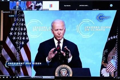 El presidente de los Estados Unidos, Joe Biden, durante la Cumbre Climática. Foto: REUTERS/Johanna Geron