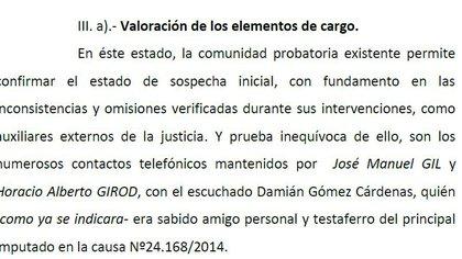 El procesamiento de Martínez De Giorgi a los veedores de Hope Funds