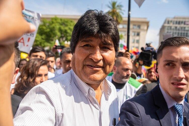 Evo Morales no pudo completar la tradicional ronda