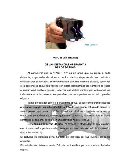 El expediente para la utilización y la compra de 300 pistolas Taser para la Policía Bonaerense avanza en el Ministerio de Seguridad