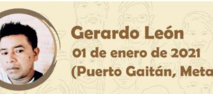 Gerardo León sería el primer líder social asesinado en 2021, según los registros de Indepaz. Foto: Tomada del Twitter de Indepaz @Indepaz