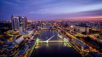 Una vista de la ciudad de Buenos Aires (foto Shutterstock)
