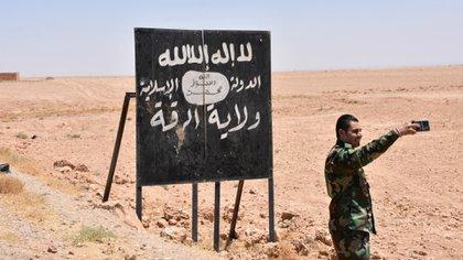 Un miliciano del Estado Islámico en Irak (AFP)