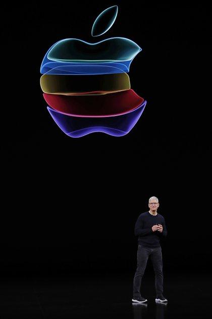 Tim Cook, CEO de Apple, estuvo a cargo del discurso de apertura delevento, como ocurre todos los años (REUTERS/Stephen Lam)