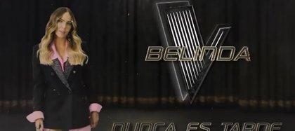 """Belinda se mantiene como coach de """"La Voz"""" (Foto: Instagram / @lavoztvazteca)"""