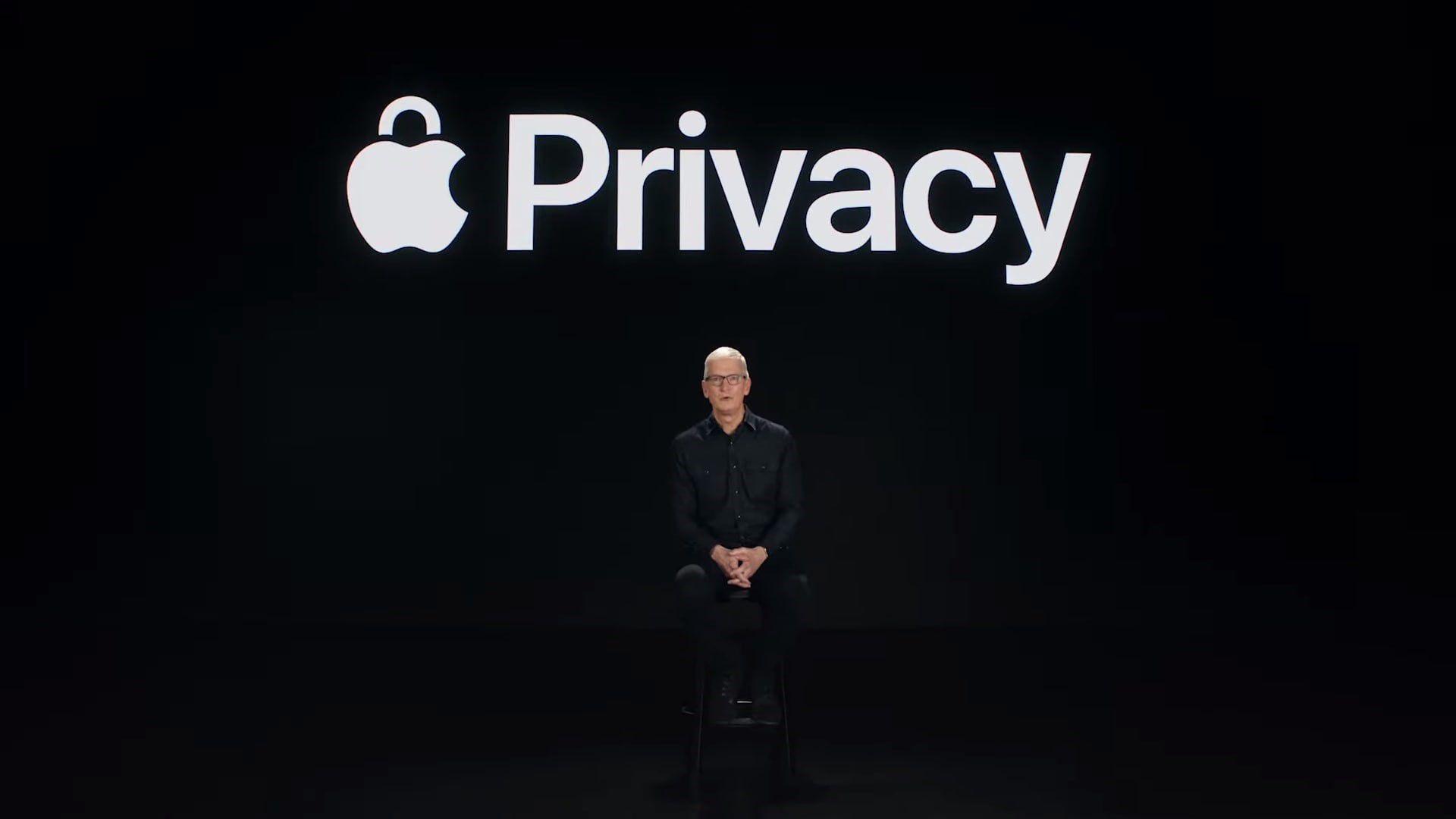 15-06-2021 El CEO de Apple, Tim Cook, habla sobre las herramientas de privacidad de iOS 15 y iPadOS 15 en el Steve Jobs Theater POLITICA APPLE