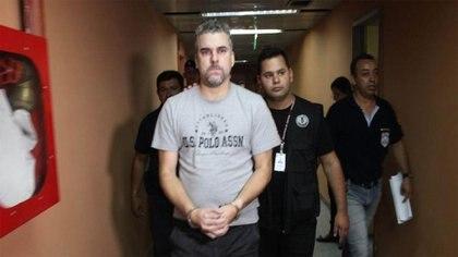 Marcelo Pinheiro Veiga, el líder narco del Comando Vermelho que asesinó a una chica en una cárcel paraguaya y fue extraditado a Brasil (Foto: Policía Nacional de Paraguay)