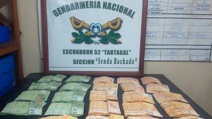 Secuestro de 2 millones de pesos en la provincia de Salta.