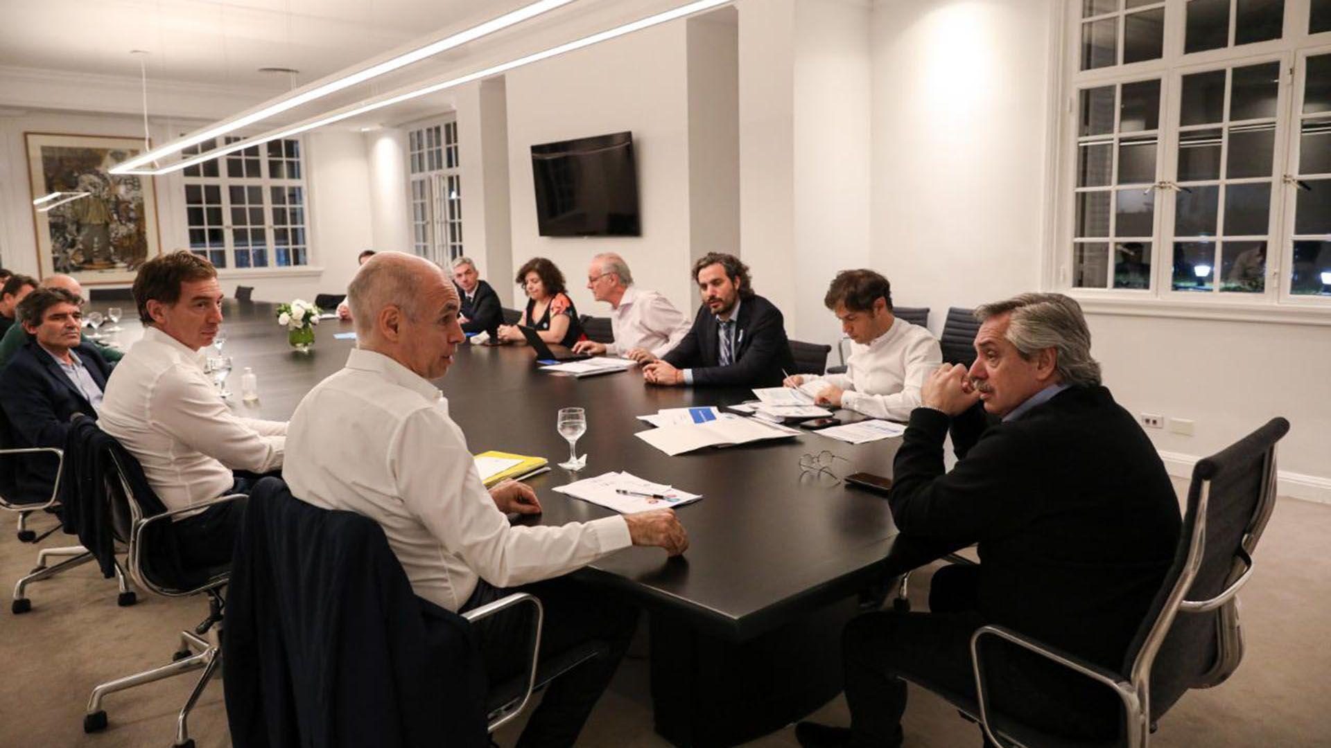 La última reunión que tuvieron las autoridades de Buenos Aires y de la Capital Federal con el presidente Alberto Fernández