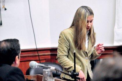 Galarza en el juicio en su contra: la condena a perpetua fue confirmada por la Justicia este mes.