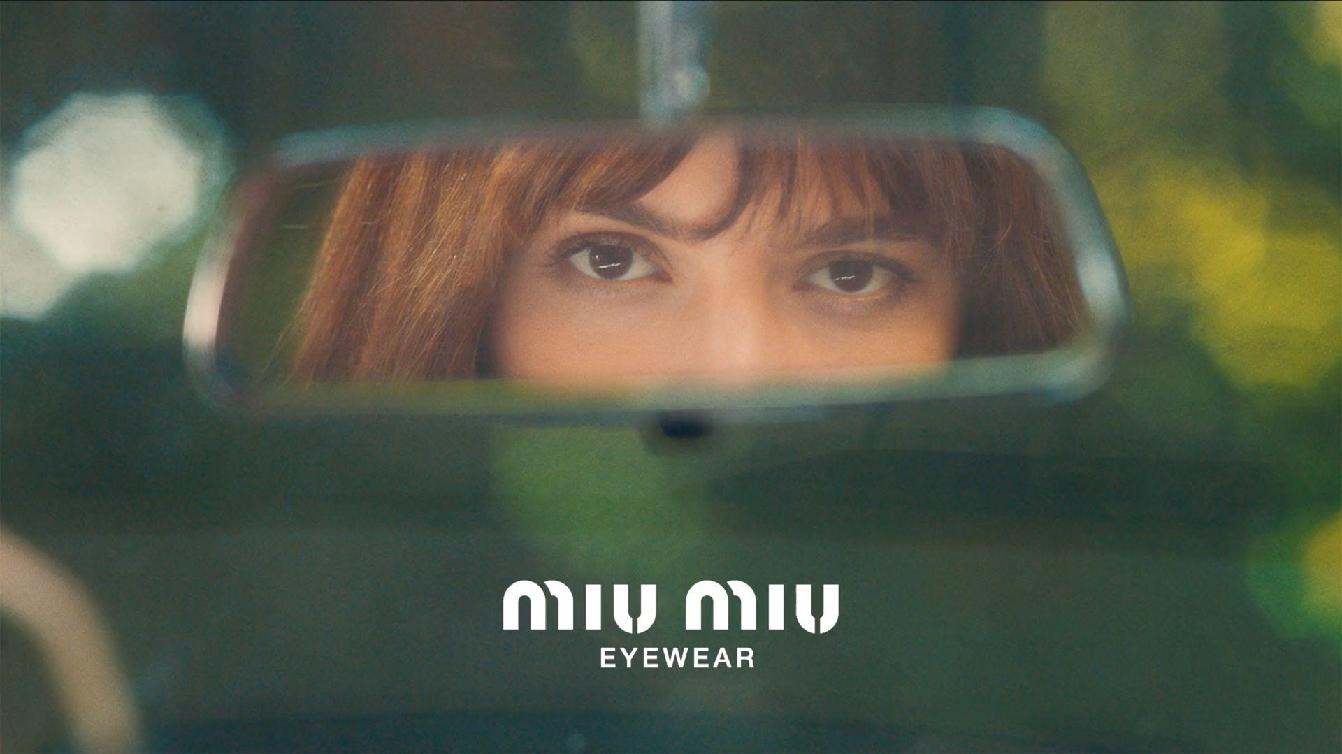 Los ojos de Calu Rivero en la nueva publicidad de Miu Miu eyewear