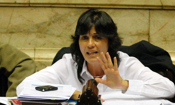 Vilma Ibarra cuando era diputada nacional (NA)