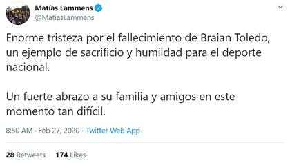El ministro de Turismo y Deportes Matías Lammens
