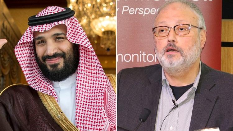 Mohammed Bin Salman y Jamal Khashoggi, el periodista saudí asesinado en el consulado de Arabia Saudita en Estambul, Turquía