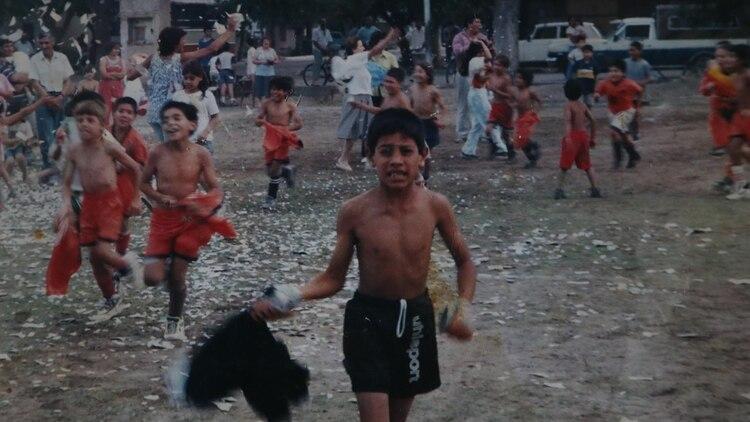 Una de las reliquias fotográficas de la familia Andrada en Mendoza: el pequeño Esteban, campeón (Marcelo Ruiz)