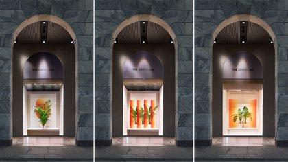 Con una interpretación ecológica de la semana del diseño, la Rinascente y la diseñadora Sabine Marcelis han creado un bulevard de 16 enormes olivos centenarios en el área exterior entre la tienda y el duomo. (Crédito: Prensa Sabine Marcelis)