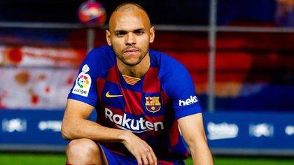 Braithwaite fichó por el Barcelona en febrero
