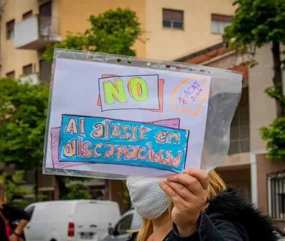 Protesta discapacidad