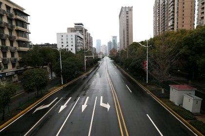 Las calles de Wuhan, vacías a fines de enero de 2020 (Reuters)
