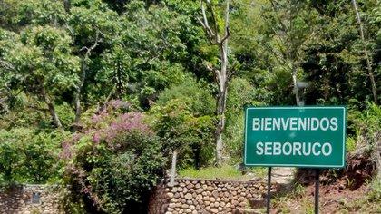 La entrada a Seboruco, un municipio del estado Táchira