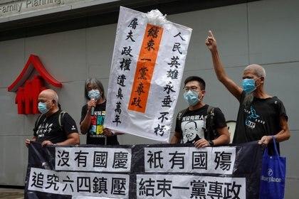 Protestas en el Día Nacional de China en Hong Kong (Reuters/ Joyce Zhou REFILE - UPDATING CAPTION INFORMATION)